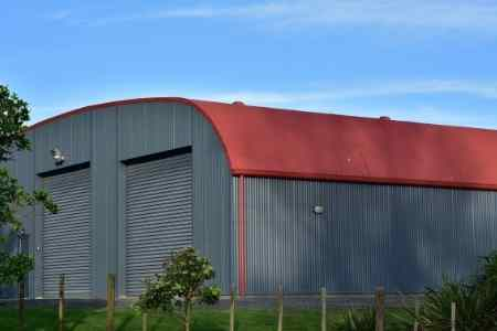 commercial sized metal building