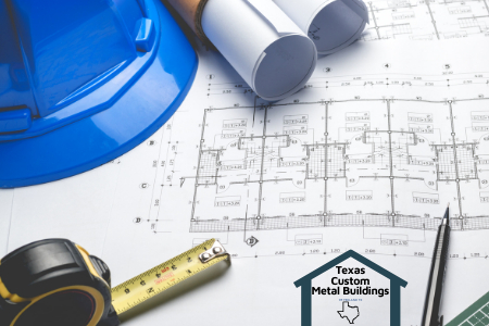 engineering plans by texas custom metal buildings