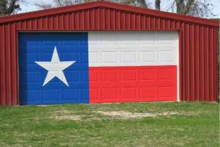texas metal garage with door